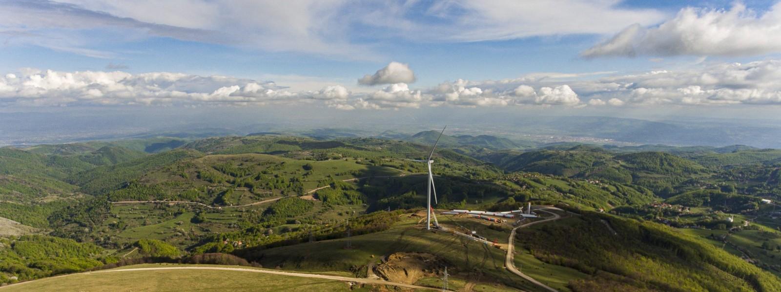 Windfarm in Selac